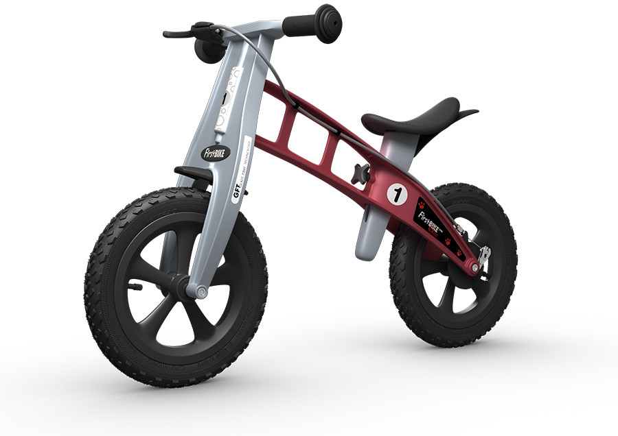 FirstBike CROSS Red s brzdou