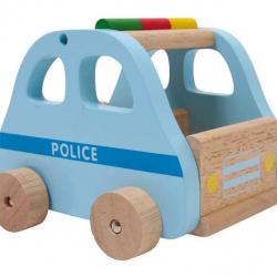 Drevené farebné auto - Auto záchrancovia Polícia