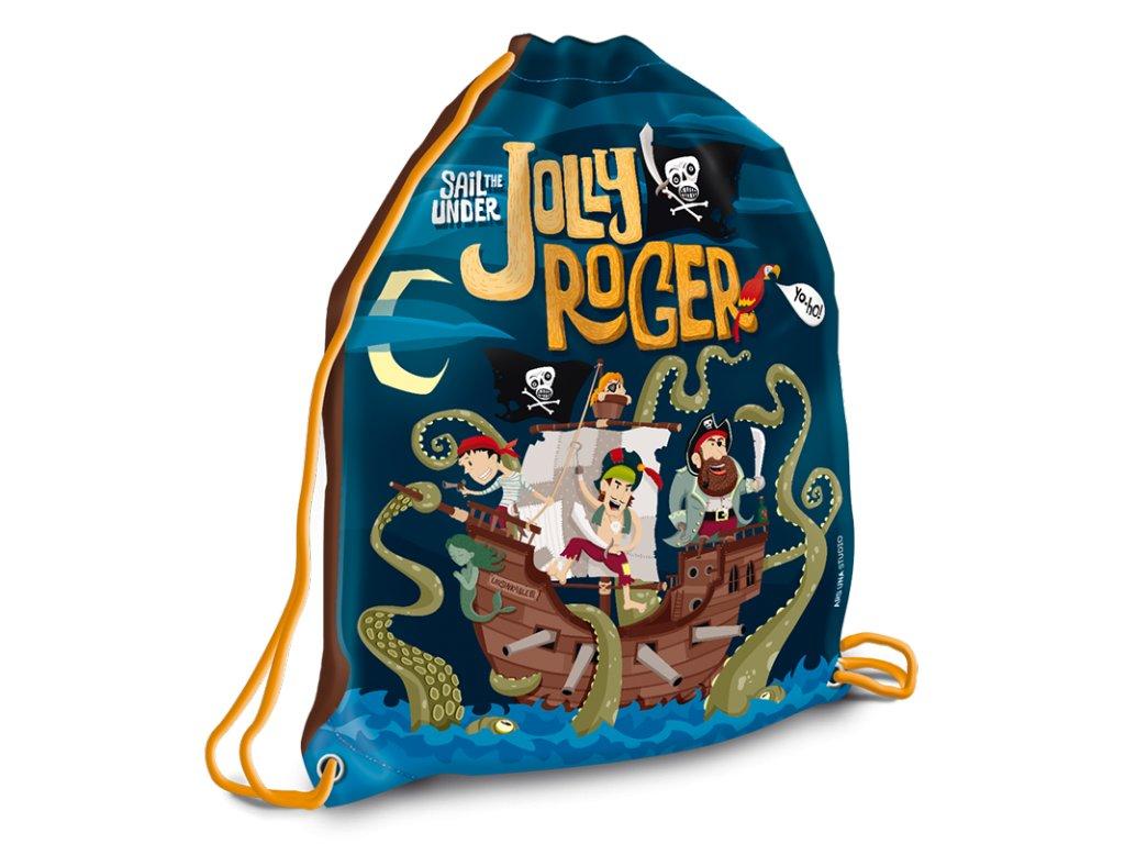 Worek na obuwie szkolne Pirat Jolly Roger