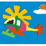 Dřevěné hračky - Vkládací puzzle - Vkládačka - Vrtulník
