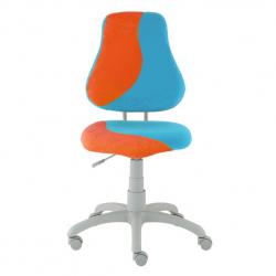 Rosnące krzesełko Alba Fuxo S Line Suedine błękitno-pomarańczowe 609