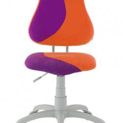 Rostoucí židle Fuxo S Line Suedine fialovo-oranžová 340