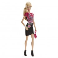 Mattel Barbie Modelka v černých šatech