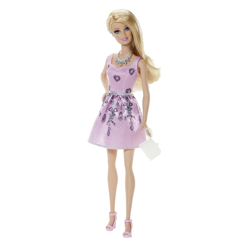 Mattel Barbie Modelka v růžových šatech