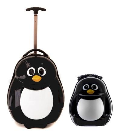 Dětská sada batoh a kufr Tučňák
