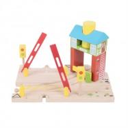 Bigjigs Toys Drewniana stacja sygnalizacyjna
