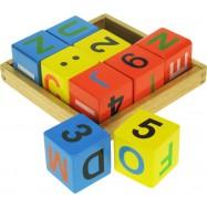 Dřevěné kostky s počítáním