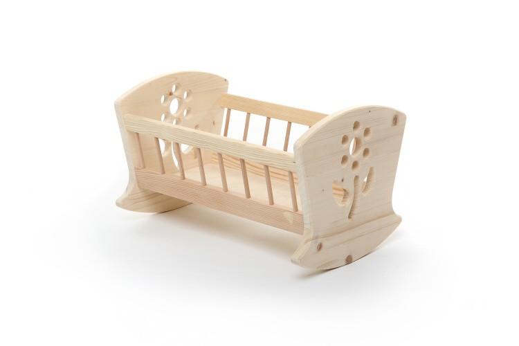 Dřevěná kolébka pro panenku