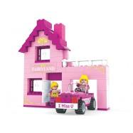 Stavebnice dům s autem 159 dílů