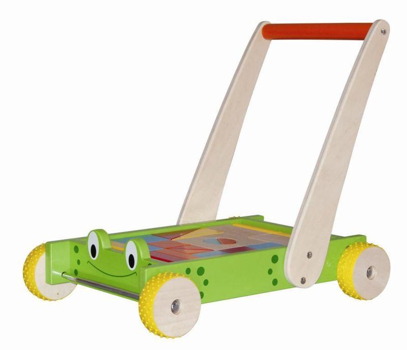 Chodítko vozík s kostkami a madlem - Žába