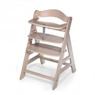 Rostoucí dětská židle Alpha+ včetně bezpečnostních pásů white washed