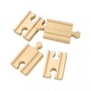 Mini koleje rovné, spojky, 5 cm, 4 ks
