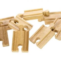 Bigjigs Toys Koleje łączniki 7 cm, 8 szt