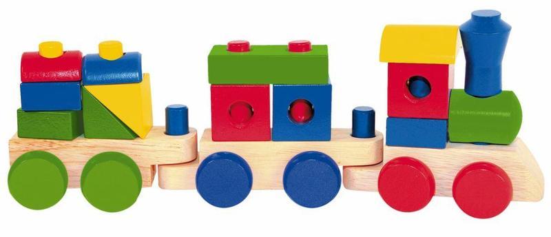 Woody Skládací nákladní vlak + dva vagony