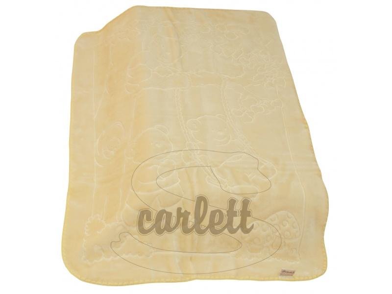 Španělská deka 517 akrylová - žlutá