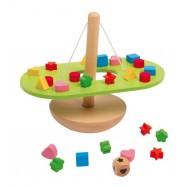 Dřevěná motorická hračka - Vyvažování - balancující houpačka