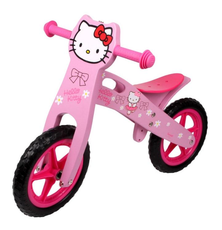 Dřevěné odrážedlo Hello Kitty