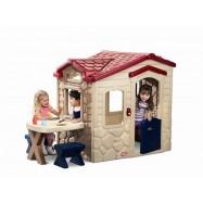 Dětský domek s piknikovým stolkem