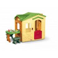 Dětský domek s piknikovým stolkem - Natural
