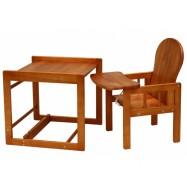 Dřevěná jídelní židlička Scarlett kombi olše masiv borovice