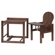 Dřevěná jídelní židlička Scarlett kombi masiv borovice wenge