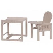 Dřevěná jídelní židlička - Scarlett kombi - masiv borovice - bílá (bělená)