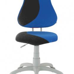 Rostoucí židle Fuxo S Line Suedine černo-modrá 821