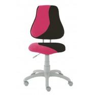 Rastúca stolička Fuxo S Line Suedine ružovo-čierna 798
