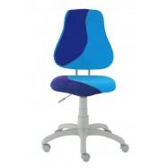 Rastúca stolička Fuxo S Line Suedine svetlo modrá-tmavo modrá 299