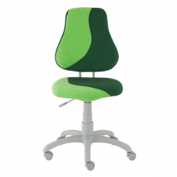 Rostoucí židle Fuxo S Line Suedine světle zeleno-tmavě zelená 266