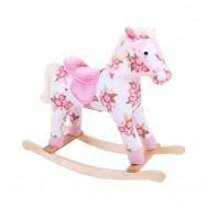 Dřevěný houpací kůň s květy