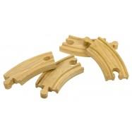 Bigjigs Toys Torz kolejowe krótkie 10 cm, 4 szt