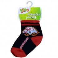 Kojenecké ponožky KIKKO 0-6 měsíců modré s autíčkem