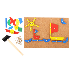Bigjigs Toys Tablica korkowa z kolorowymi kształtami