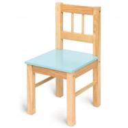 Bigjigs dětská dřevěná židlička modrá