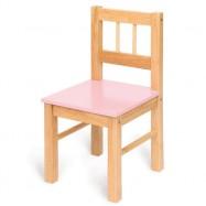 Bigjigs dětská dřevěná židlička růžová