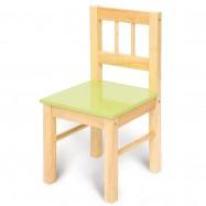 Bigjigs dětská dřevěná židlička zelená