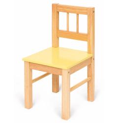 Bigjigs dětská dřevěná židlička žlutá