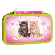 Školní penál dvoupatrový Cats II