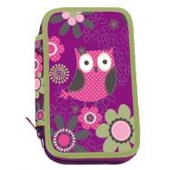 Piórnik szkolny dwupoziomowy Owl