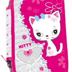 Piórnik szkolny dwupoziomowy Kitty