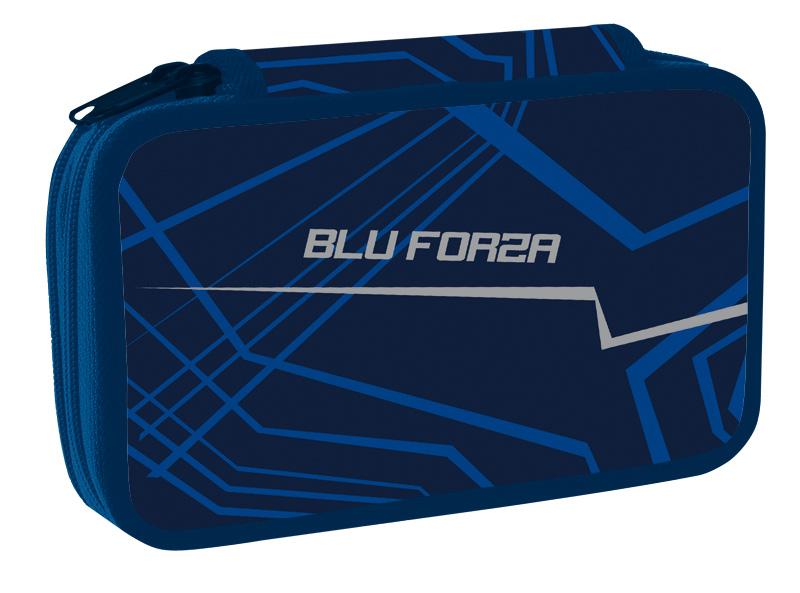 Školní penál dvoupatrový Blu forza