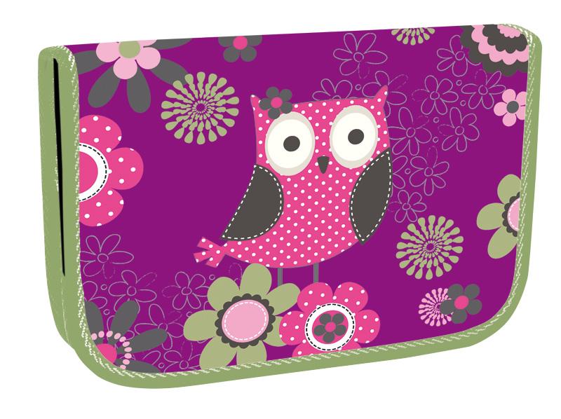 Školní penál jednopatrový Owl