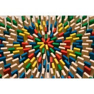 Dřevěné domino v tubě 400 ks