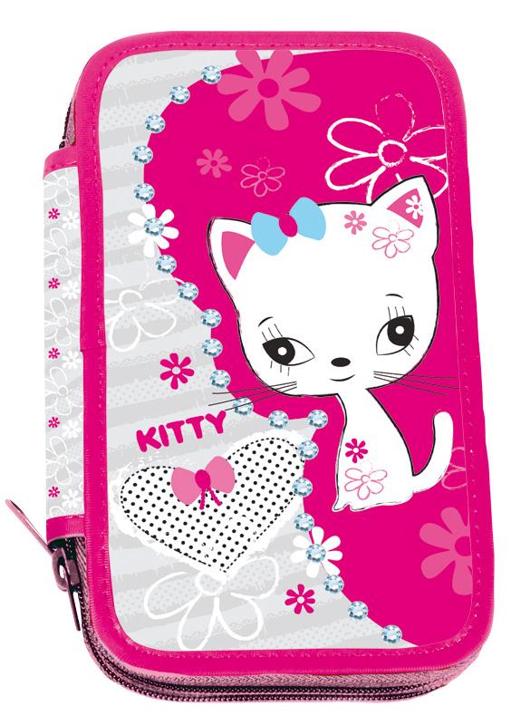 Školní penál třípatrový Kitty