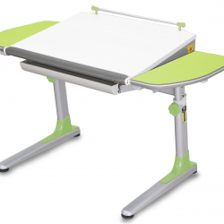 Rosnące biurko Young College Profi biało zielony