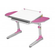Rastúci stôl Young College Profi bielo ružový
