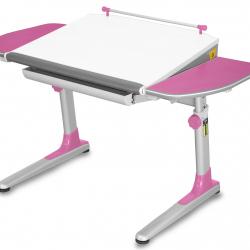 Rosnące biurko Young College Profi biało różowy