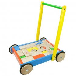 Bigjigs Toys kocky vo vozíku