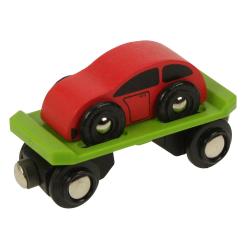 Bigjigs Toys Wagon Laweta z Samochodem BJT442